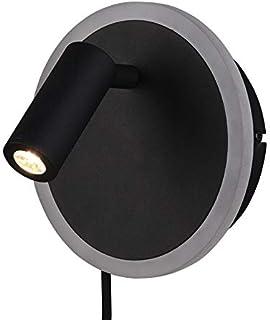Trio Leuchten Lampa ścienna LED Jordan 229210232, metal czarny matowy, wraz z 5 W + 2 W LED