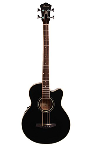 Ibanez AEB10E Acoustic-Electric Bass Guitar (Black)