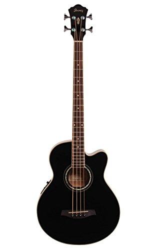 Ibanez AEB10E Acoustic-Electric Bass Guitar (Black)