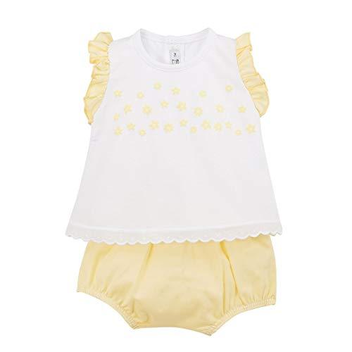 CALAMARO - Conjunto Bebe bebé-niños Color: Amarillo Talla: 1M