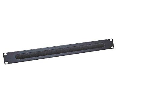LogiLink Professional ORCEB1B 19 Zoll Kabeldurchfhrungspanel, 1 HE,schwarz RAL9005