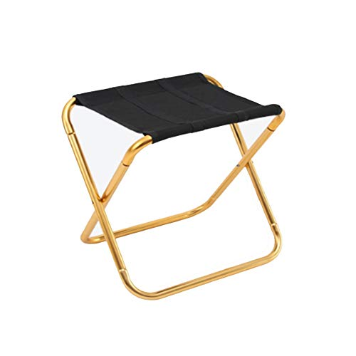 JXDD Folding Lazy Chair Outdoor Portable Camping Stool Small Storage Chair Travel for Hiking Fishing Beach (Golden) 10-24 (Color : A, Size : 28X22X24cm)