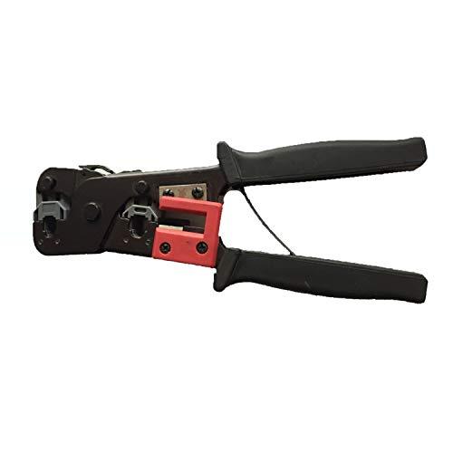 Tapa de la batería de las herramientas de encogimi Herramienta modular - RJ45 / RJ11 / RJ12 Crimper - Cortador/Stripper Cat5, Cat6 Cables de teléfono terminan los cables con Modular .Máquina de sold