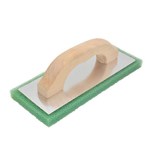 Enlucido Cuadrada Llana, Paleta 2Pcs Lechada Con Mango De Madera Y Placa Base De Aluminio Usados Para Baldosas De Hormigón Portátil Mason Herramientas
