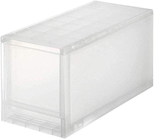 MUJI Storage Case, Polypropylene, Semi-Transparent, Medium