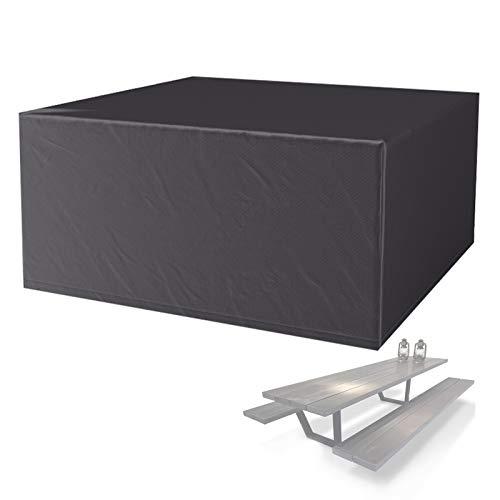IJNBHU Funda para Muebles de Jardín, Exterior Conjuntos de Muebles, Cubierta Impermeable para Sofa de Jardin 210D Oxford, al Aire Libre Patio, con Bolsa de almacenamiento255*255 * 80CM