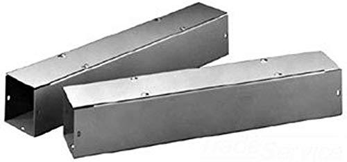 "Hoffman F22T124GVPWK Wireway, Straight Section with Knockouts, Flat Cover, NEMA 1, Galvanized, 2.50"" x 2.50"" x 24.00"", Gray"