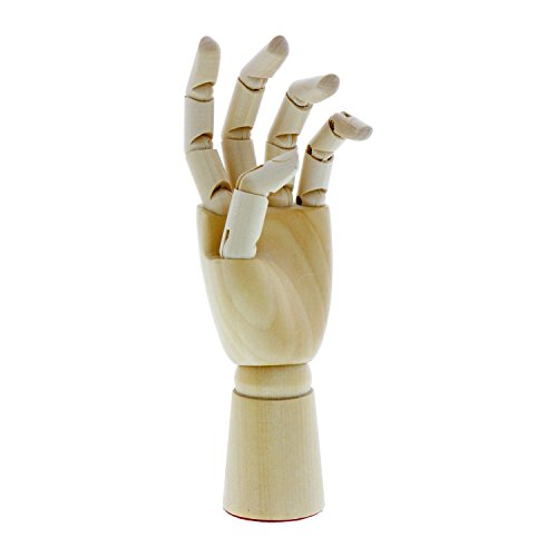 US Art Supply Artist Drawing 7' Left Hand - Manikin Articulated Wooden Mannequin (7' Left Hand)