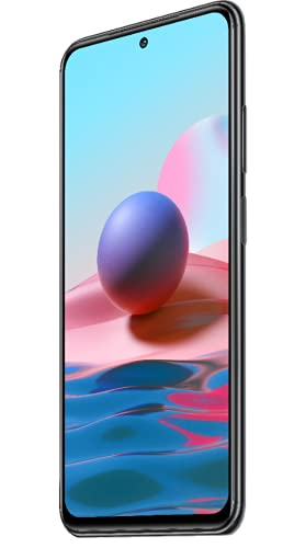 "Xiaomi Redmi Note 10 Smartphone RAM 4GB ROM 128GB 6.43"" AMOLED DotDisplay 5000mAh (typ) Batería 33W Carga rapida 48MP Wide-Angle Cámara Gris [Versión Global]"