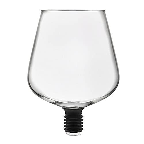ZIS Barware Transparente Directo a Beber Vino decantador Vidrio Taza embalada en la Botella de Vino Tapón de Tope Herramientas (Color : Clear)