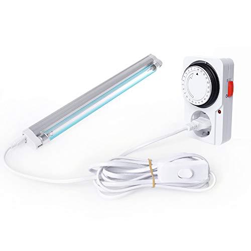 Schatzboot UV Ozon Lampe UV-C Lampe 8W für Haus Schränke Schuhschränke Luftreiniger Reiniger Desinfektion Bakterien, Mikroben und Viren (A#)