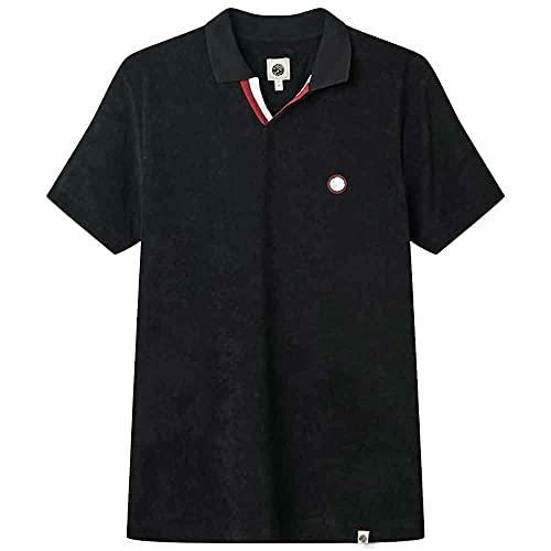 Pretty Green Tilby Terry Towelling Polo Shirt - Black-XL