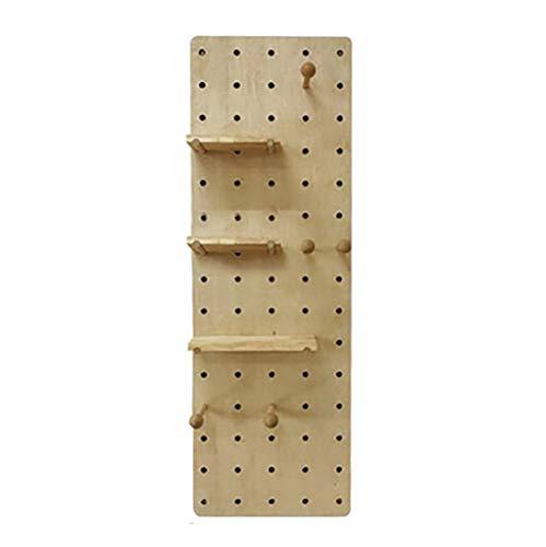 WALL RACKS BGJ -Wandrack Esszimmer Küche Einhängegestell Sachen Wanddekoration Regal aus Holz Loch Board Creative Wandbehang Home Storage (Color : B1)