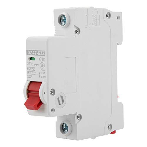 Interruptor de circuito DZ47-63Z-1P 10A, Interruptor de aire de protección contra fugas de un solo de DC en miniatura