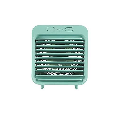 Herramientas de refrigeración Usb Escritorio Mini Ventilador Portátil Enfriador de Agua Ventilador de Aire Acondicionado Lámpara Escritorio Ventilador de Refrigeración de Aire Humidificador-Verde