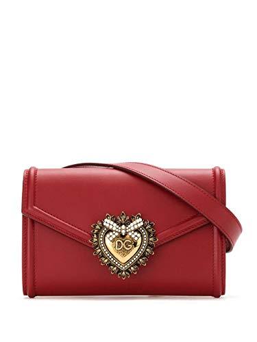 Moda De Lujo | Dolce E Gabbana Mujer BB6706AV89387124 Rojo Cuero Riñonera | Temporada Permanente