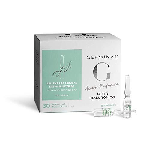 Germinal Acción Profunda Colágeno y Elastina- Serum Facial Concentrado de Colágeno y Elastina con Efecto Reafirmante y Nutritivo, Proporciona Elasticidad a la Piel- 30 Ampollas x 1ml