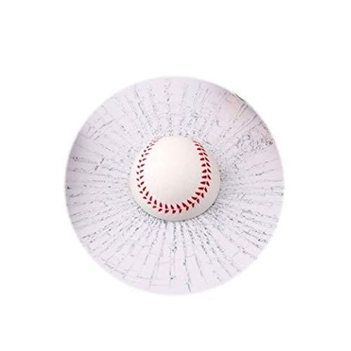 turkeybaby Auto Aufkleber, Lustige 3D Tennisball Basketball Fußball Hit Fenster Riss Auto Aufkleber Dekoration Weißer Baseball
