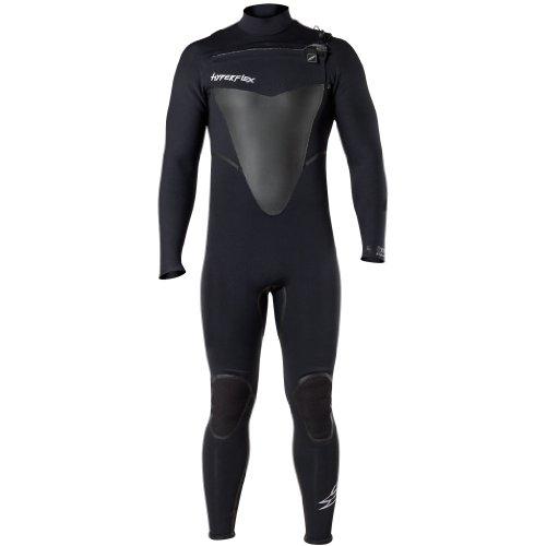 Hyperflex Wetsuits Hombres del vudú 3/2mm Front Zip–Traje, Hombre, Negro