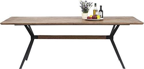 Kare Tisch Downtown 220x100cm, großer, massiver Echtholz Esstisch, Esszimmer Tisch aus Eiche Massivholz, (H/B/T) 77x220x100cm