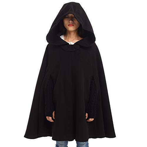 Capa Negra Con Capucha  marca GRACEART