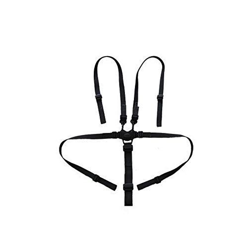 Ogquaton Ceinture de sécurité pour bébé, harnais réglable à 5 points, sangle de poussette pour siège de sécurité pour poussette de chaise haute (noir)