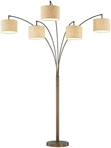 Artiva USA LED602805FBZ 83 LED Arched Floor Lamp with Dimmer 5000 Lumens 83 Antique Bronze product image