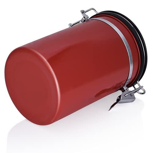 Recipiente De Almacenamiento De Café, Tanque De Almacenamiento De Acero Inoxidable De Acero Inoxidable Grande Para Comedor(rojo)