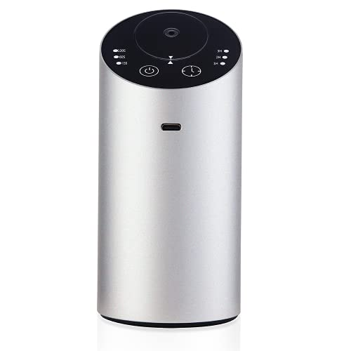 Essential Oil Diffuser - Wireless, Lightweight, & Portable Aromatherapy Device - Features Nano-Level Atomization Technology - USB Charging - Ideal for Cars, Homes, Offices,Silver
