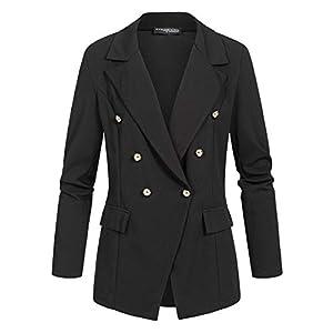 Styleboom Fashion® Damen Blazer Jacket Buttons Front schwarz
