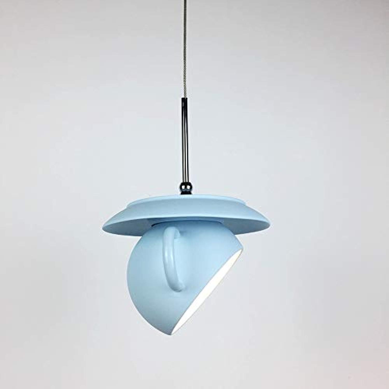 Rishx Moderne Kreative Zement Restaurant Droplight Anhnger Leuchte Schlafzimmer Nachttischlampe Einzigartige Kaffeetasse Pendelleuchte Restaurant Cafe Bar Dekoration Hngelampe (Farbe   Blau)