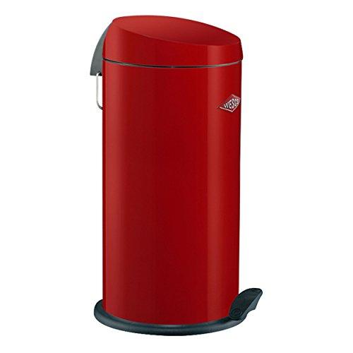 Wesco CAPBOY MAXI 64 cm hoch Abfallsammler Mülleimer 22 Liter Tretmechanismus, Farbe:rot