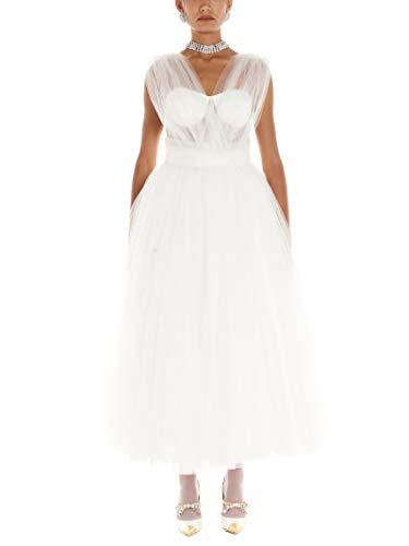 DOLCE E GABBANA Luxury Fashion Damen F6G4VTHLM0UW0001 Weiss Polyamid Kleid | Jahreszeit Permanent
