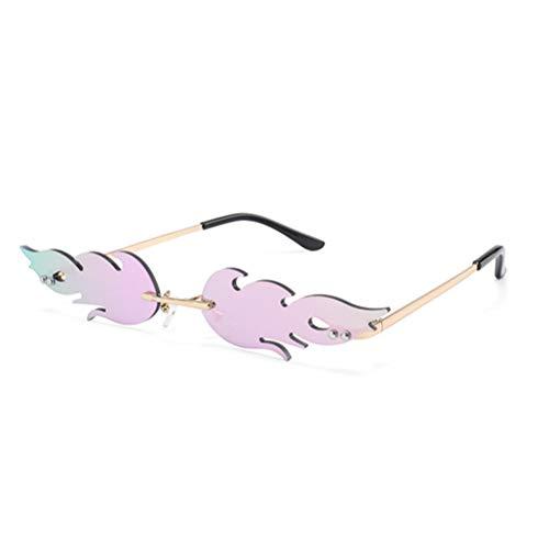 JFAN Gafas de sol Unisex Adulto Vintage Polarizadas Mujer Hombre UV400 Protección Gafas de sol con Montura Gafas Accesorios de Moda Creativos Gafas de sol de Verano
