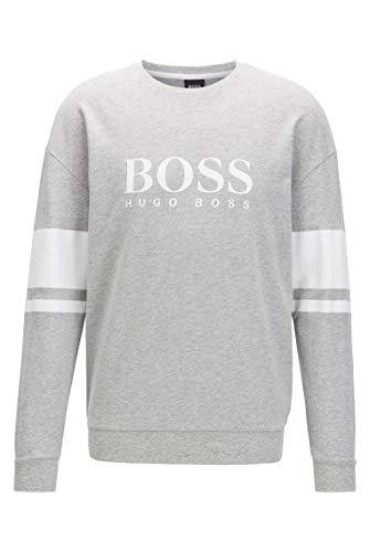 BOSS Herren Authentic Sweatshirt Loungewear-Sweatshirt aus French Terry mit Kontraststreifen und Logo