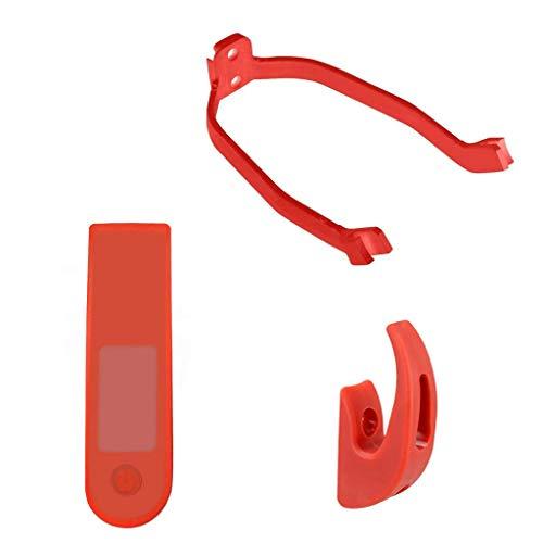 aibiku Funda de Silicona para Xiaomi Mijia M365 Eléctrico Scooter Pro Pantalla LED Piezas de Recambio (Rojo)