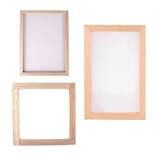 Dilightnews 3 Stück Papierherstellung Rahmen, Papierherstellung Papier Schöpfrahmen, für DIY-Papierhandwerk, Papierschöpfrahmen für Kinder Teenager Lehren Papierherstellung (20 x 30 cm)