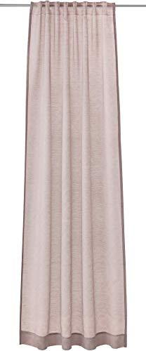 Joop! Living Vorhang mit verdecktem Schlaufenband Glare Rose Einfarbig Uni