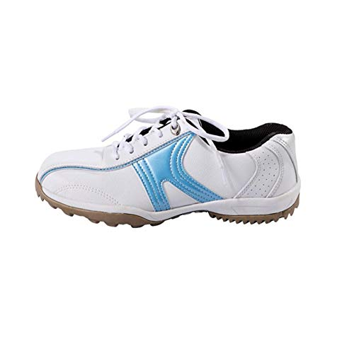 CGBF-Zapatos de Golf Transpirables Antideslizantes Impermeables para Mujer Calzado Deportivo Casual,Azul,38 EU