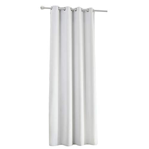 Laneetal Cortinas de Salón Moderno Opacas Aislantes luz Suaves(1 Pieza) Evitar Rayos UV Proteccion Privacidad con Ojales para Salon Cocina Habitacion 135x245cm Color Blanco