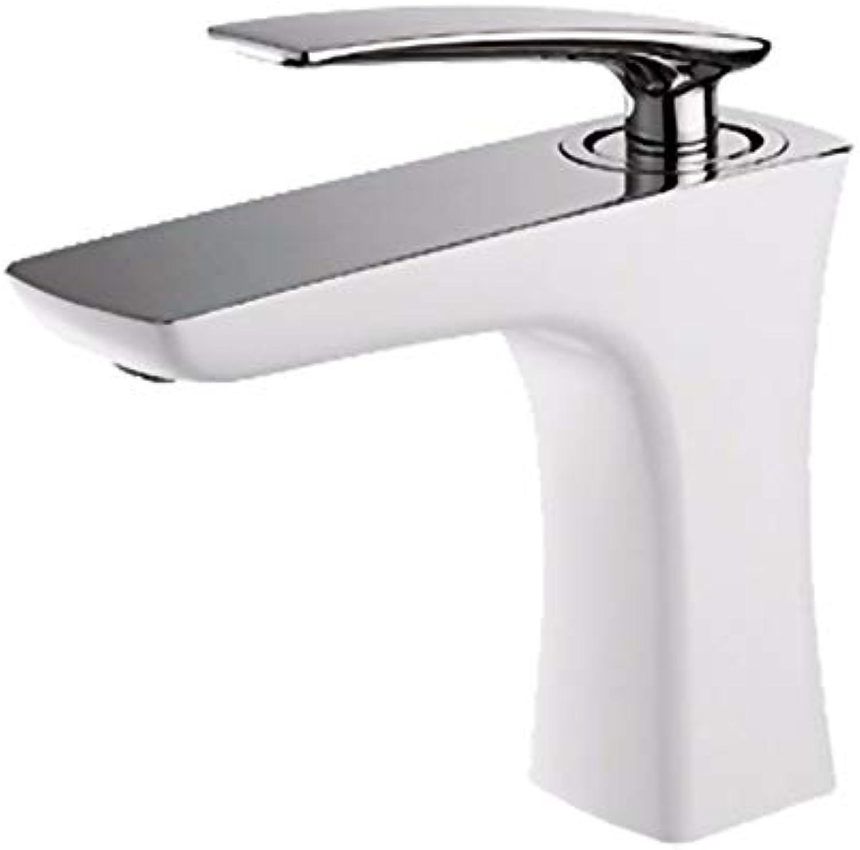 Chongxlgy-1 Wei Kupfer Einlochmontage Einzigen Handgriff Heier Und Kalter Wasserhahn Sitzen Keramik Ventilkern Küche Bad Becken Wasserhahn