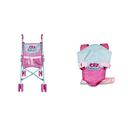 Cry Babies IMC Toys Passeggino Giocattolo per Bambini, Colore Assortiti, Talla Unica, 99999 Marsupio Giocattolo per Bambini, 90019