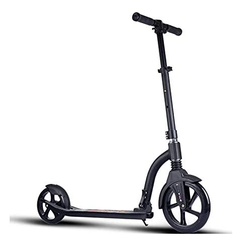 BAIHUO Scooter para adultos, Scooter de rueda grande, Scooter adolescente con suspensión de cinturón de freno, elegante scooter plegable, carga de 120 kg (no eléctrica)