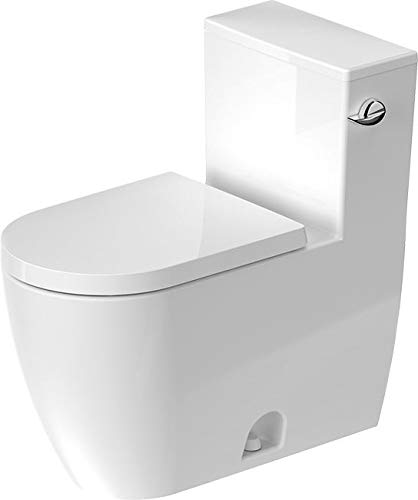Duravit ME by Starck One-Piece Toilet 2185010002 White, One-Piece Toilet ME by Starck White siph.Jet,SF,Side Lever Left