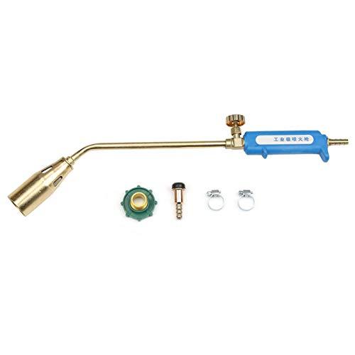 Soplete de gas, antorcha de gas, pistola de llama, conector de entrada de aire de grado industrial con abrazaderas de manguera para soldadura industrial(Type 35 single switch)