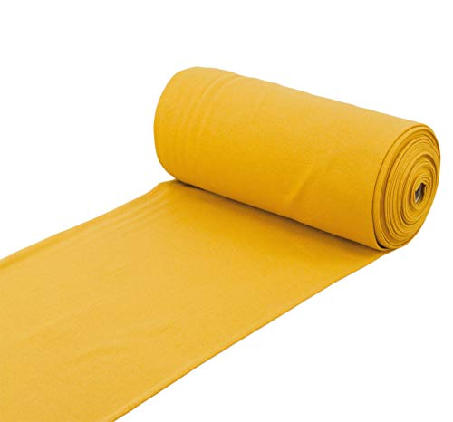 Nadeltraum Baumwoll - Bündchenstoff Uni einfarbig Ocker gelb - Meterware ab 25 cm x 70 cm - Stoff zum Nähen