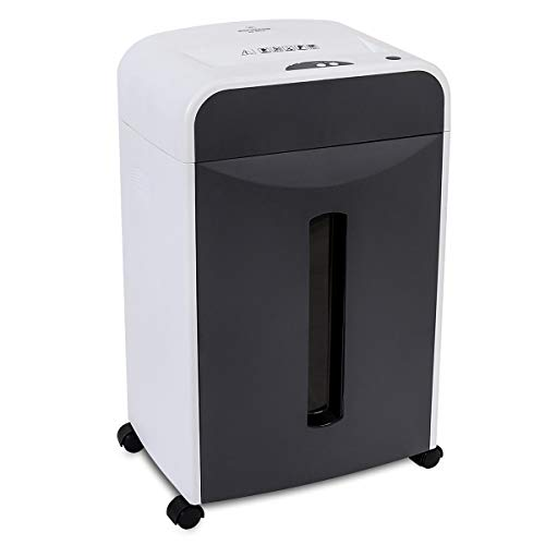 WOLVERINE 6-Sheet 2x6mm Super Micro Cut High Security Level P-5 Ultra Quiet Paper/Credit Card Shredder for Home Office by Manganese-Steel Cutter and 5 Gallons Pullout Waste Bin SD9610