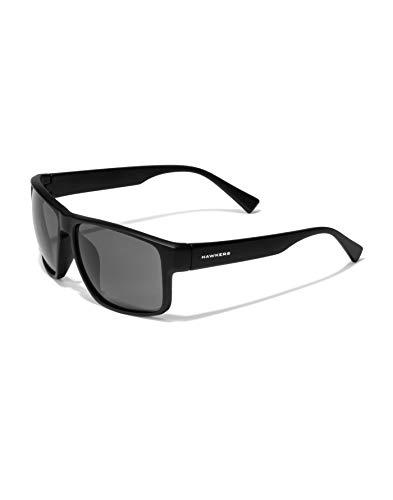 HAWKERS Gafas de Sol Deportivas Faster, para Hombre y Mujer, con Montura negra mate y lente polarizada y negra, Protección UV400