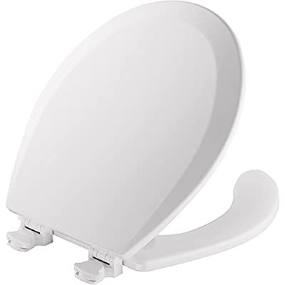 Mayfair 440EC 000 Open Front Molded Wood Toilet Seat, Round, White