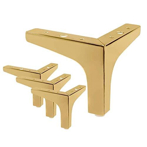 DERUKK-TY 4 patas de muebles de 4 pulgadas / 5.3 pulgadas, estilo moderno, sofá de metal y oro rosa, patas de tres esquinas para armario de mesa (color : A, tamaño: 5.3 pulgadas)